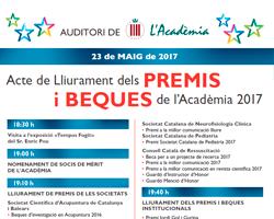 Acte de Lliurament de Premis del Curs Acadèmic 2016-2017