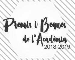 Avançament de l'Acte de lliurament de Premis i Beques 2019